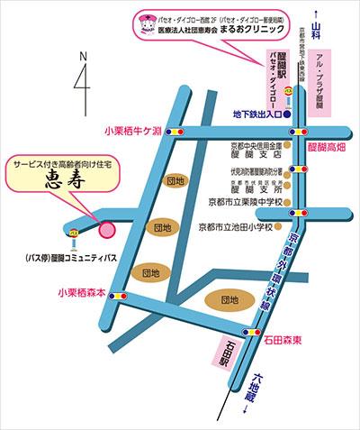 恵寿へのアクセスマップ